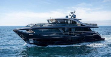 the super flybridge megayacht Princess X95