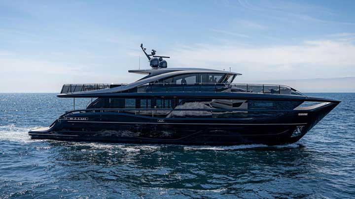 the super flybridge megayacht Princess X95