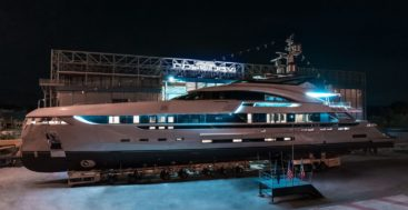 the Rossinavi megayacht EIV was referred to as Project Vector in build