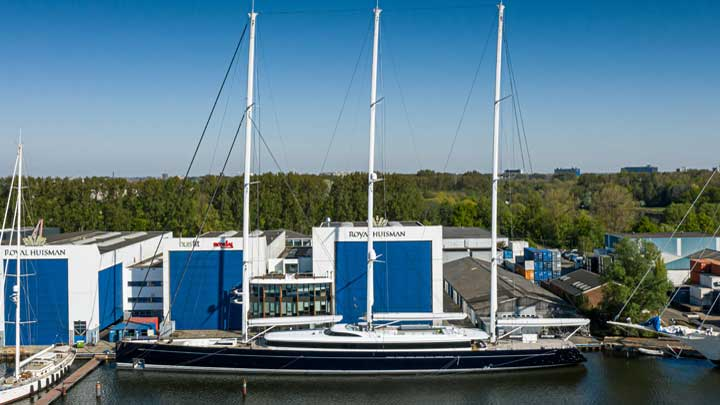 Royal Huisman's largest superyacht, Sea Eagle II, sees delivery in July 2020