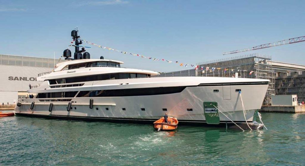the launch of the Sanlorenzo 62 Steel took place in June 2020
