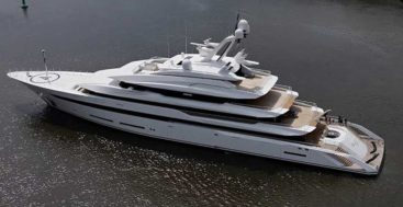 Lurssen launched the superyacht Project Hawaii in 2020