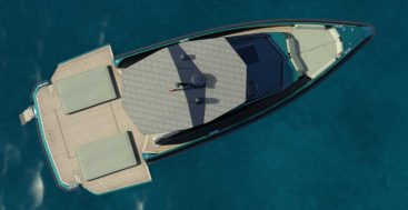 the 43 Wallytender is a superyacht tender or dayboat