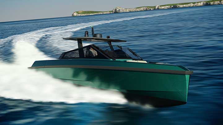 the 43 Wallytender can accompany megayachts as a tender or be a primary dayboat