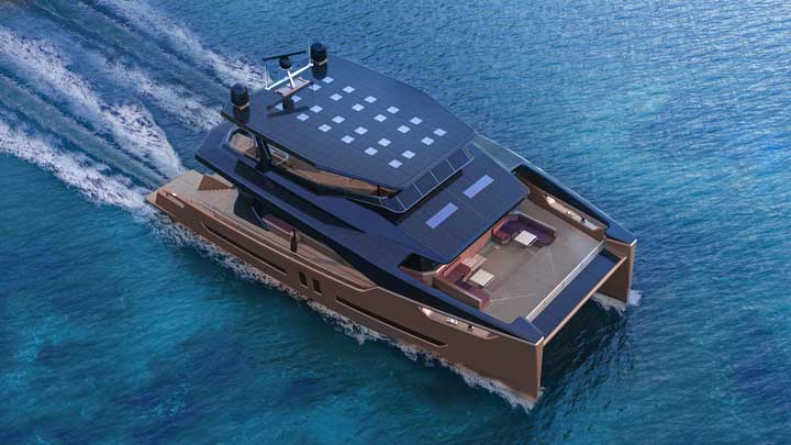 Alva Yachts in Germany is building the Ocean Eco 90 catamaran, for megayacht owners wanting a greener experience; Alva Yachts U.S. office is Yacht Sales International