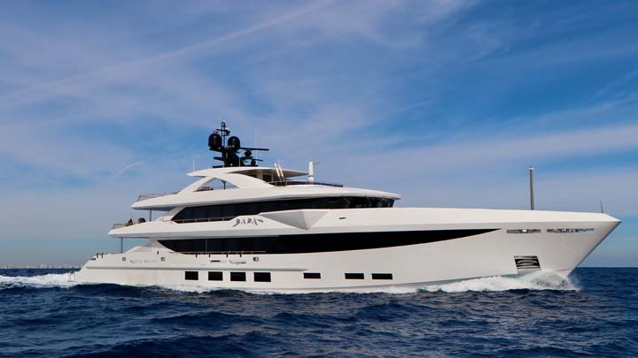 Baba's is the largest Hargrave Custom Yachts superyacht