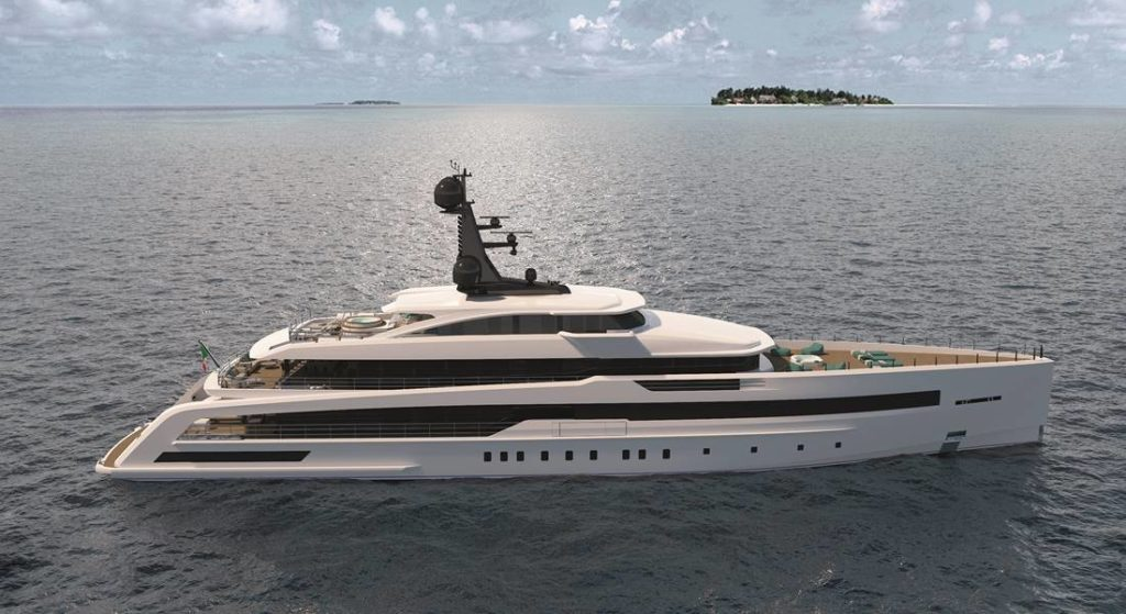 CRN M/Y 138 is a megayacht in build in Ancona