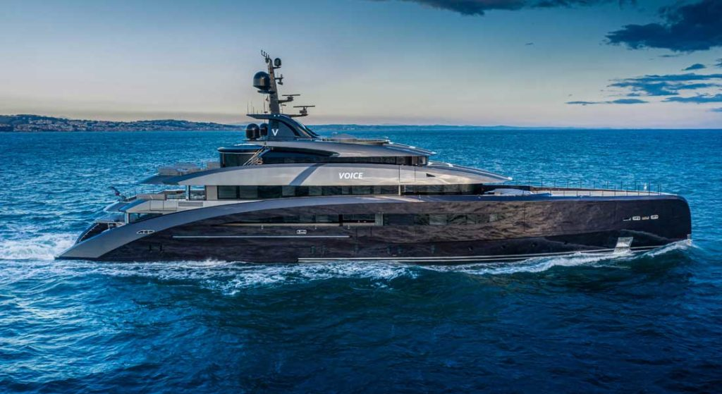 the superyacht known as CRN hull 137, Voice, has been delivered