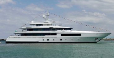 Framura, a.k.a. Codecasa Hull C123, launched in July 2020 at the famous megayacht shipyard