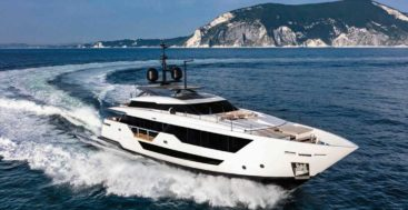 hull six of the Custom Line 106 megayacht series hit the water in June 2020