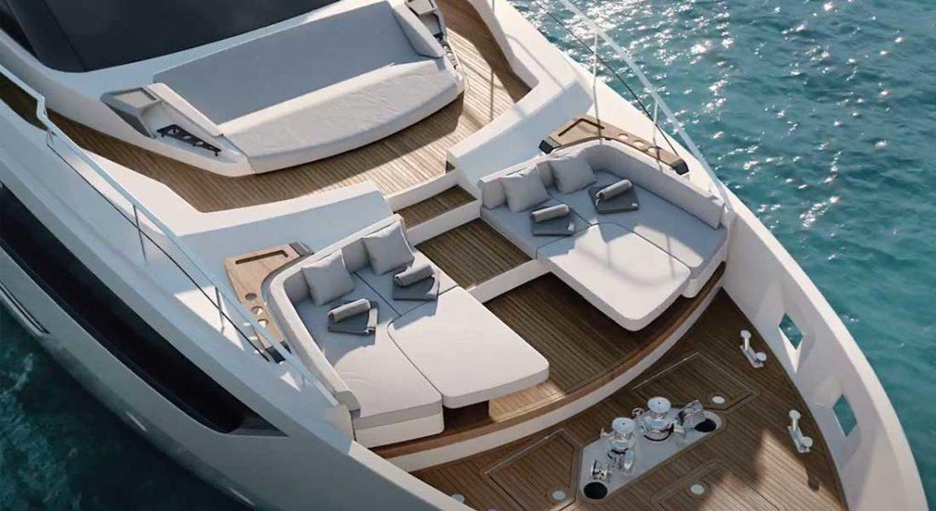 the Ferretti Yachts flagship is the Ferretti 1000 megayacht