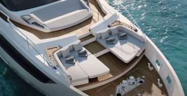 the Ferretti Yachts flagship is the Ferretti 1000 megayacht