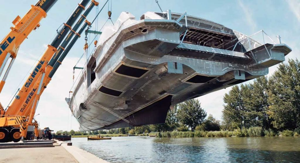Project Cosmos is the largest megayacht in Heesen's history