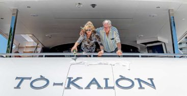 To-Kalon Celebrates Christening as 1st Horizon FD102 Megayacht in USA