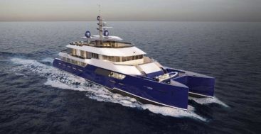 the Kingship KingCat 40M is a multi-hull megayacht