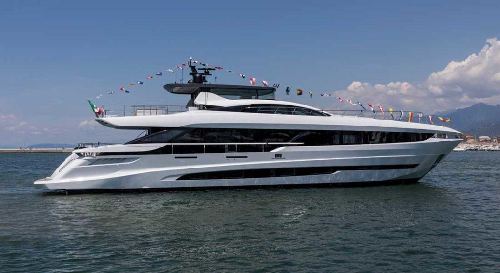 the first Mangusta GranSport 33 megayacht belongs to an American