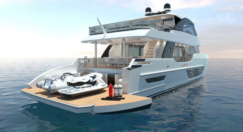 the Ocean Alexander Explorer series includes the 27E megayacht