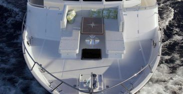 the Outer Reef Serenity Foredeck Lounge is a new feature for many of its yachts and megayachts