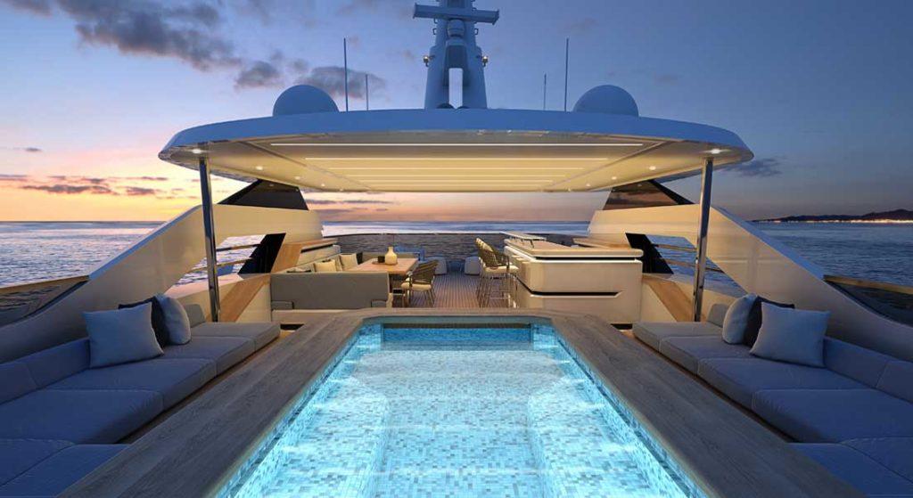 the Columbus Classic 50M megayacht features design by Hydro Tec