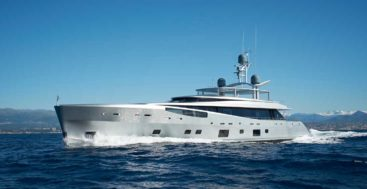 the Feadship megayacht Lady May was originally launched as Como