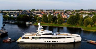 the megayacht known as Feadship Project 706 launched in August 2020; her real name is Totally Nuts