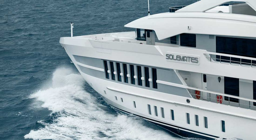 the megayacht known as Project Castor at Heesen is christened Solemates