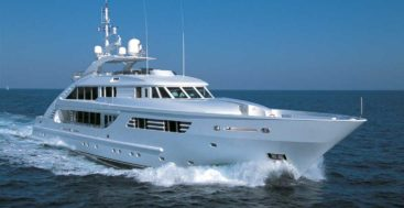 the ISA Yachts megayacht launched as April Fool was later known as Lady MM
