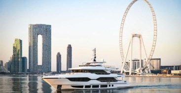 the Majesty 120 is a trideck megayacht