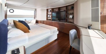 the Princess X95 megayacht boosts interior space by 40 percent and outdoor space by 10 percent