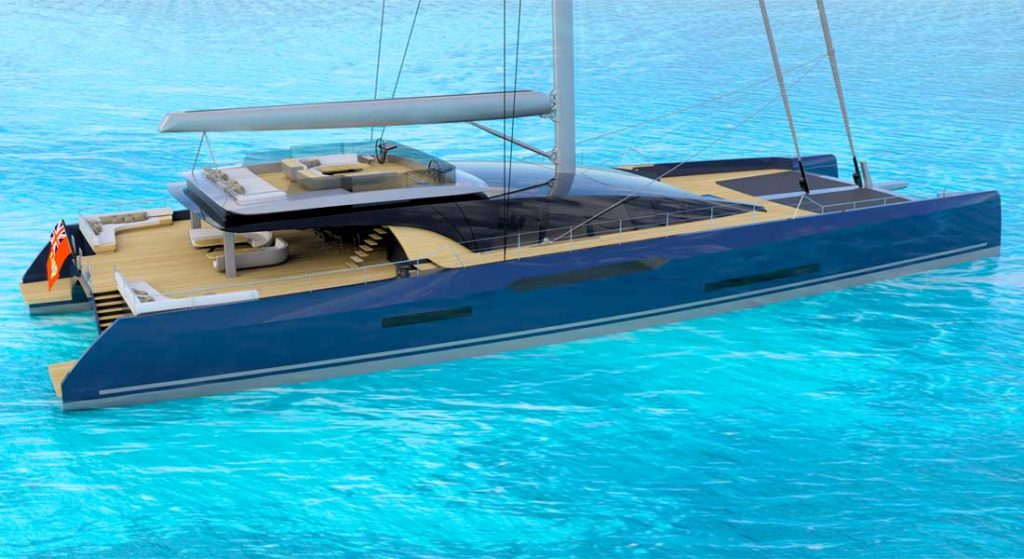 the Sunreef MM460CAT is a sailing superyacht designed by Malcolm McKeon
