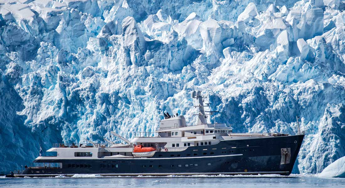 Ultimate Antarctica Journey Combines Superyacht Charter & Geographic South Pole Access