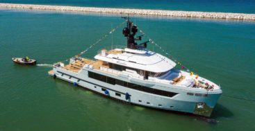 Aurelia launched as the first Flexplorer megayacht at Cantiere delle Marche
