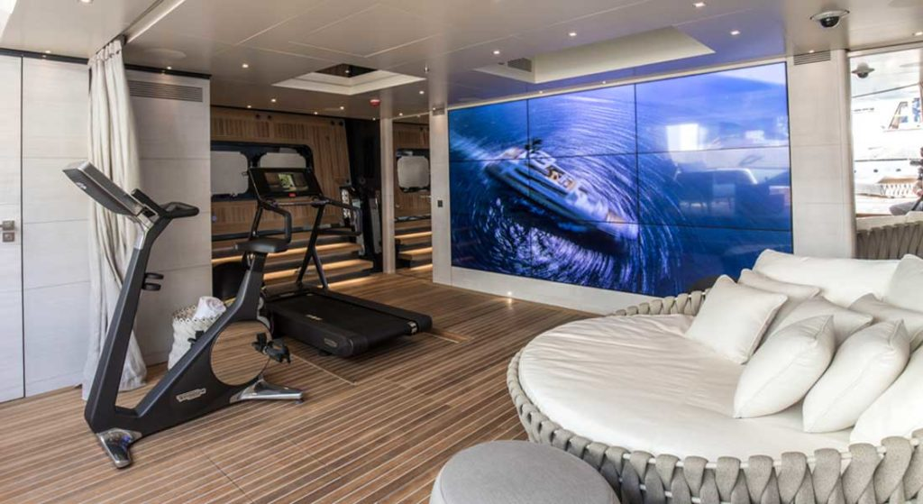 the video walls aboard Severin°s may make other superyacht owners envious