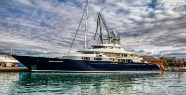 the megayacht Cocoa Bean underwent a three-phase refit
