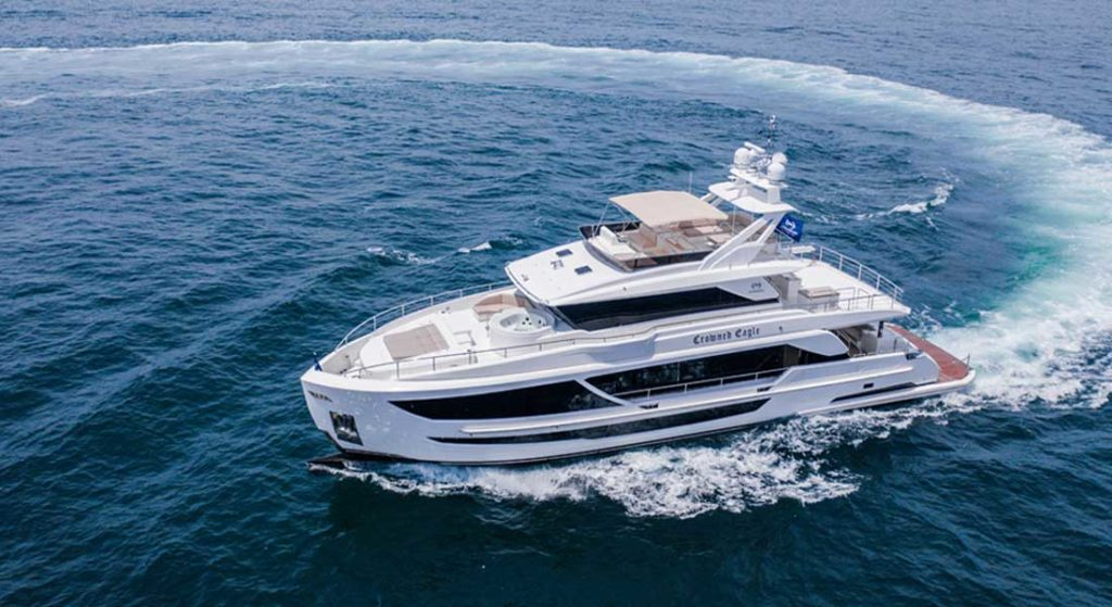Crowned Eagle is the first Horizon FD92 megayacht