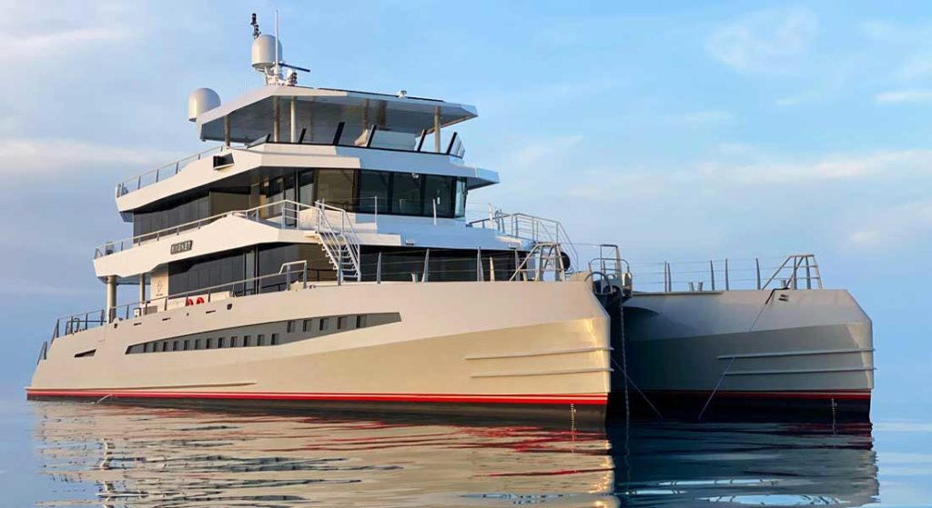 Magnet is the first megayacht from Metal Shark Yachts
