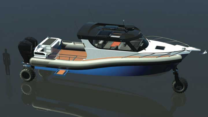 the Sealegs 12RC amphibious craft may appeal to megayacht owners