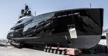 the superyacht Olukun splashed at Tankoa Yachts in September 2020