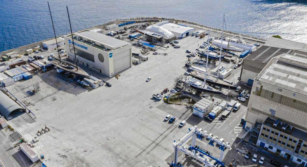 300t Origins is a new superyacht refit space within MB92 La Ciotat run by Philippe Escousse