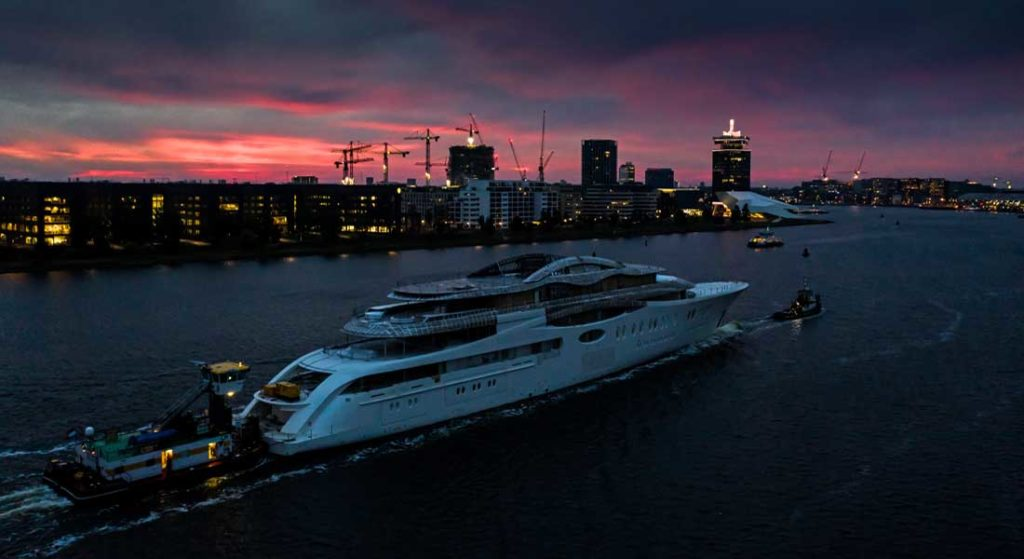 Feadship Project 1010 is the largest superyacht from the Dutch builder