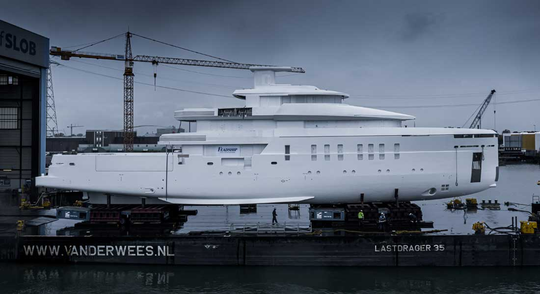 Feadship Project 708 and the megayacht Boardwalk launched the same week
