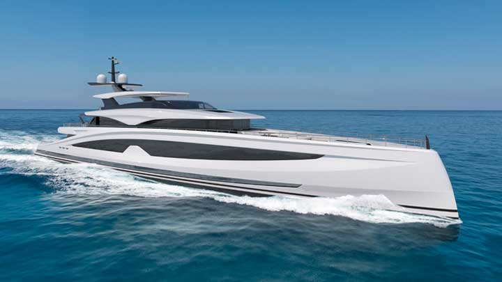 the Heesen megayacht Project Sparta laid her keel in October 2020
