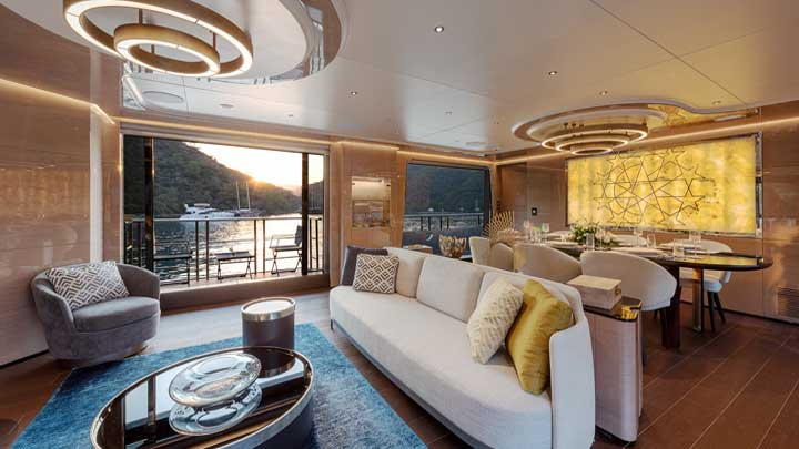Sea Star is a wood and epoxy megayacht from Mengi Yay