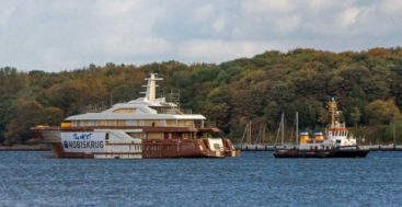 the megayacht known as Nobiskrug Project 795