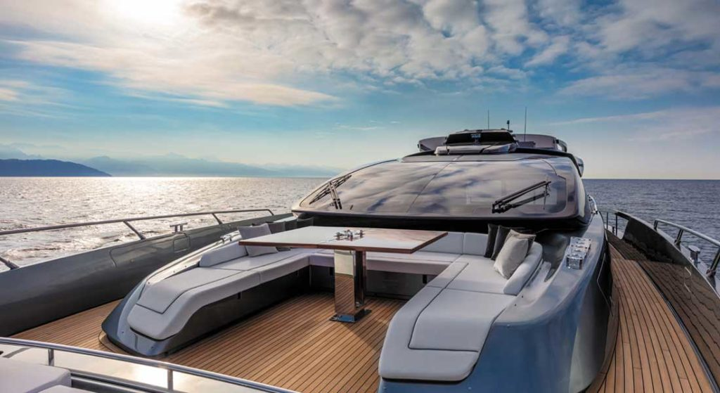 the Riva 88 Folgore is a megayacht from a rich shipyard history