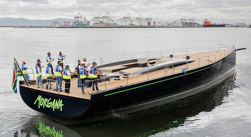 Morgana is a custom sailing superyacht from Southern Wind Shipyard