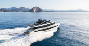 the Princess X80 megayacht joins the Superfly lineup