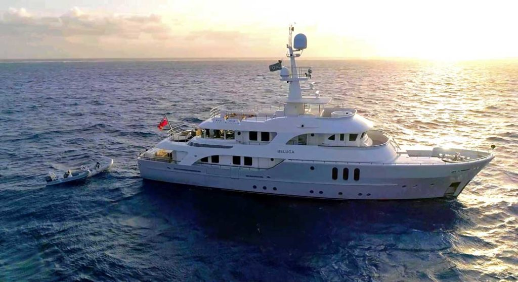 charter Beluga for a superyacht trip and to contribute to the Great Barrier Reef research project