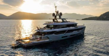 Rebeca is the first Benetti Oasis 40M megayacht, owned by Tim and Rebeca Ciuasulli