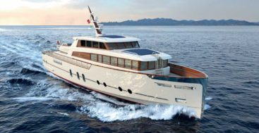 the Codecasa Gentleman's Yacht is a small megayacht with a classic style